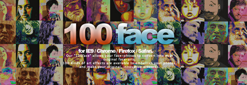 東北大震災の被災者の方々へ笑顔とメッセージを贈る、100face!