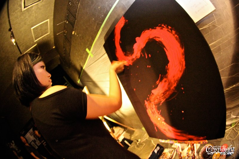 2月16日から2日間 アートスペースFUCAにてライブペイントとインスタレーションをheyhoが