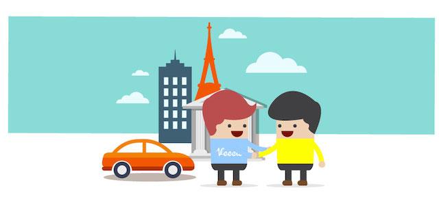 株式会社リーボ、今度は2タップで自宅にレンタカーをお届けするVeecle!(ビークル!)を公開